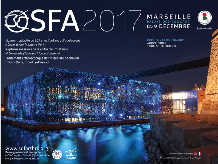 Le Congrès de la Société Française d'arthroscopie 2017